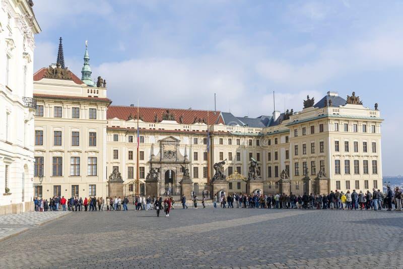 Het Kasteel van Hradcany in Praag stock afbeeldingen
