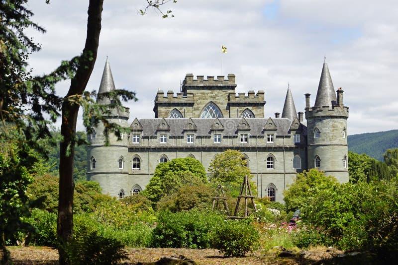 Het kasteel van Inveraray stock afbeeldingen