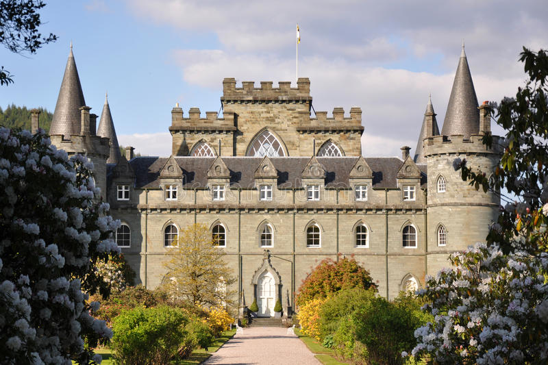 Het Kasteel van Inveraray in Schotland royalty-vrije stock afbeeldingen