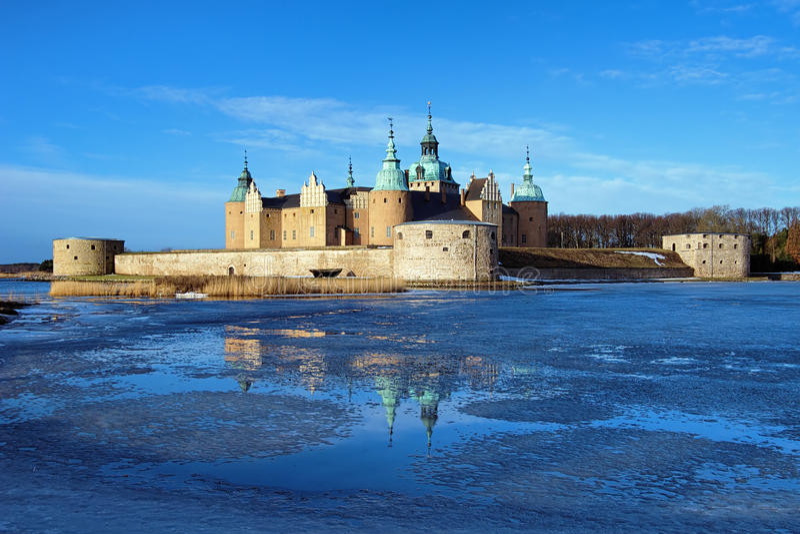 Het Kasteel van Kalmar, Zweden royalty-vrije stock afbeelding