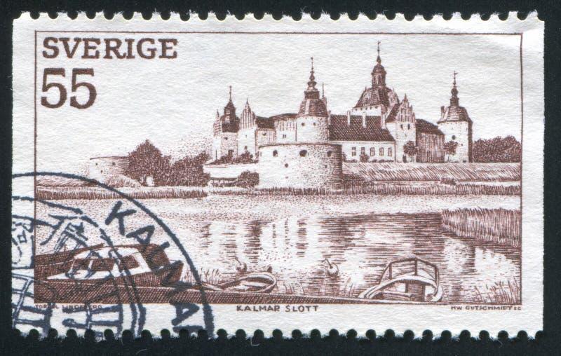Het kasteel van Kalmar stock fotografie