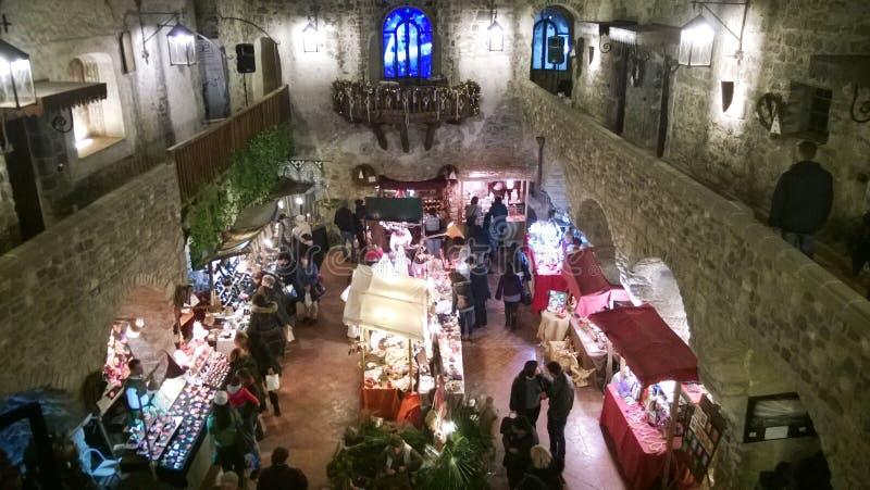 Het kasteel van Kerstmislimatola royalty-vrije stock fotografie