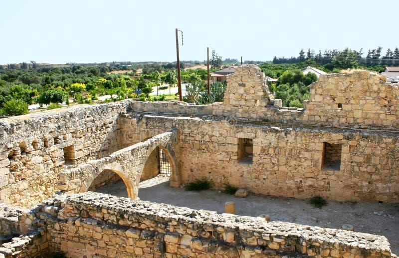 Het kasteel van Kolossi stock fotografie
