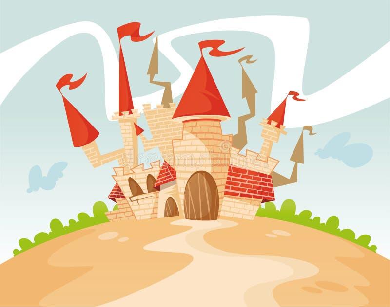 Het kasteel van koning Gogo vector illustratie