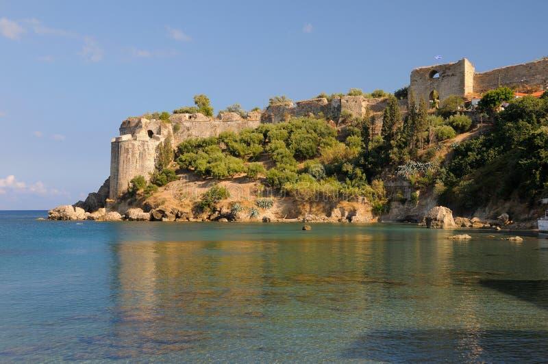 Het Kasteel van Koroni in Messinia, Griekenland stock fotografie