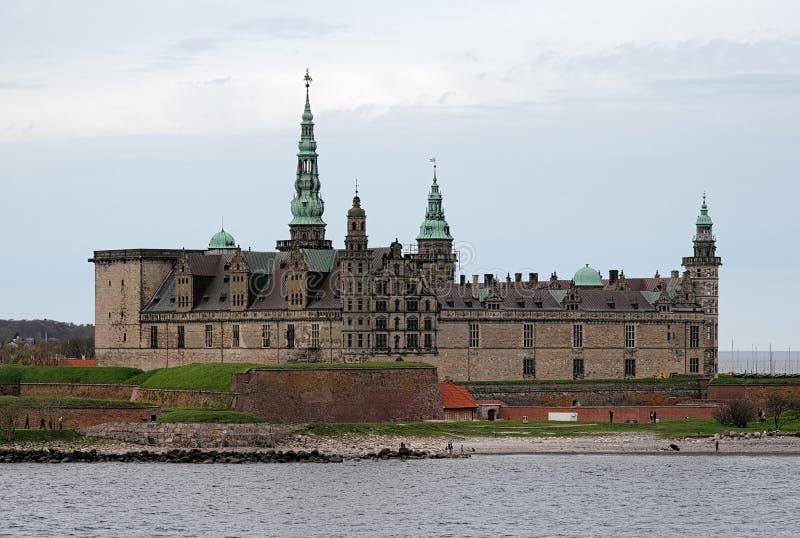 Het kasteel van Kronborg in Helsingor, Denemarken royalty-vrije stock foto's