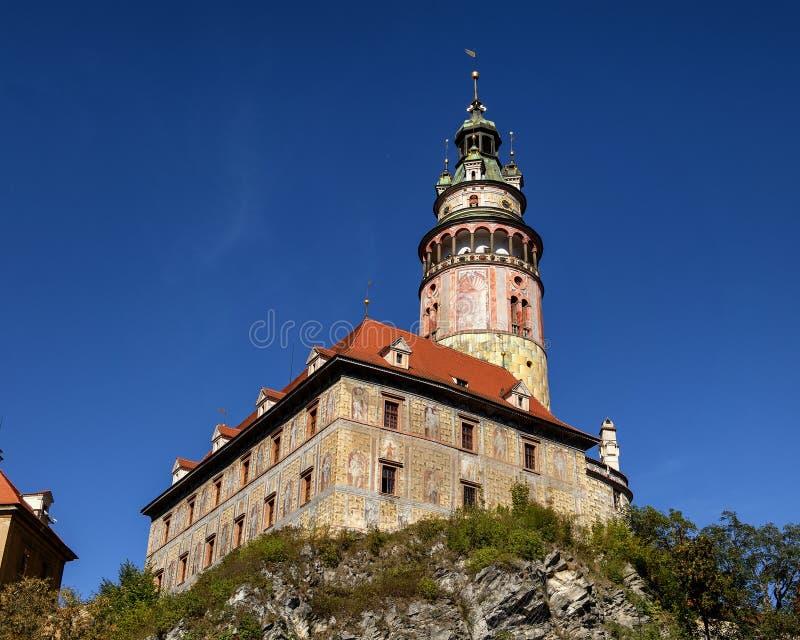 Het kasteel van Krumlov van Cesky, Tsjechische Republiek royalty-vrije stock afbeelding