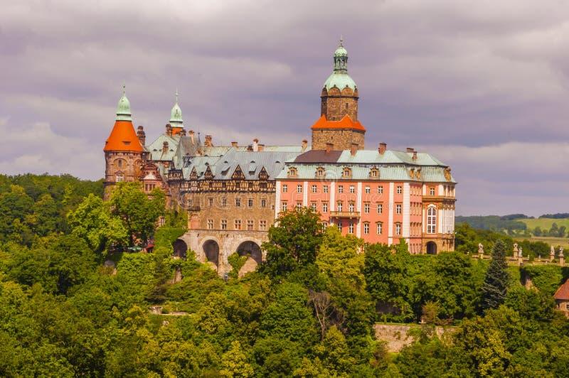 Het Kasteel van Ksiaz in Walbrzych royalty-vrije stock afbeeldingen