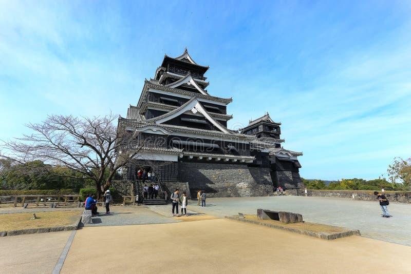 Het Kasteel van Kumamoto, Japan stock afbeelding