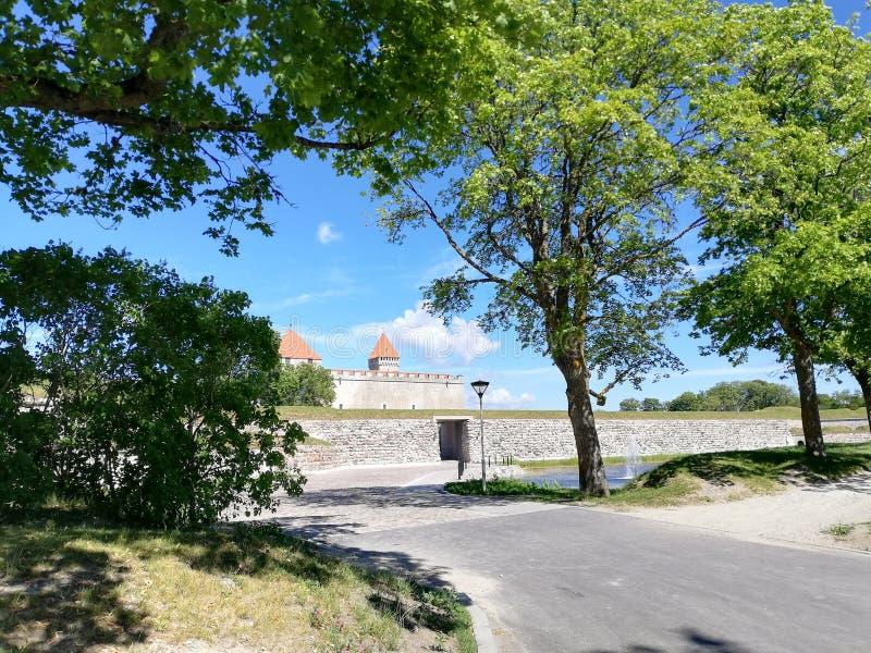 Het Kasteel van Kuressaare royalty-vrije stock afbeeldingen