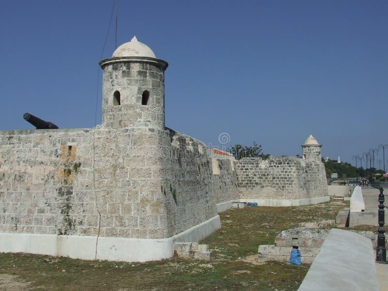 Het Kasteel van La Punta, in Habana stock afbeelding
