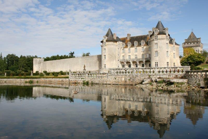 Het Kasteel van La roche-Courbon royalty-vrije stock fotografie