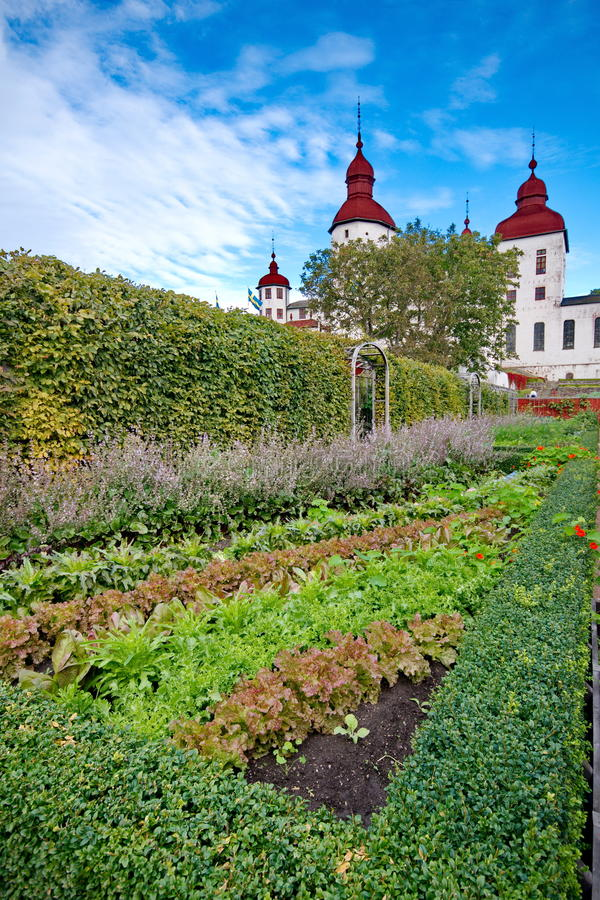 Het kasteel van Lacko in Zweden royalty-vrije stock foto