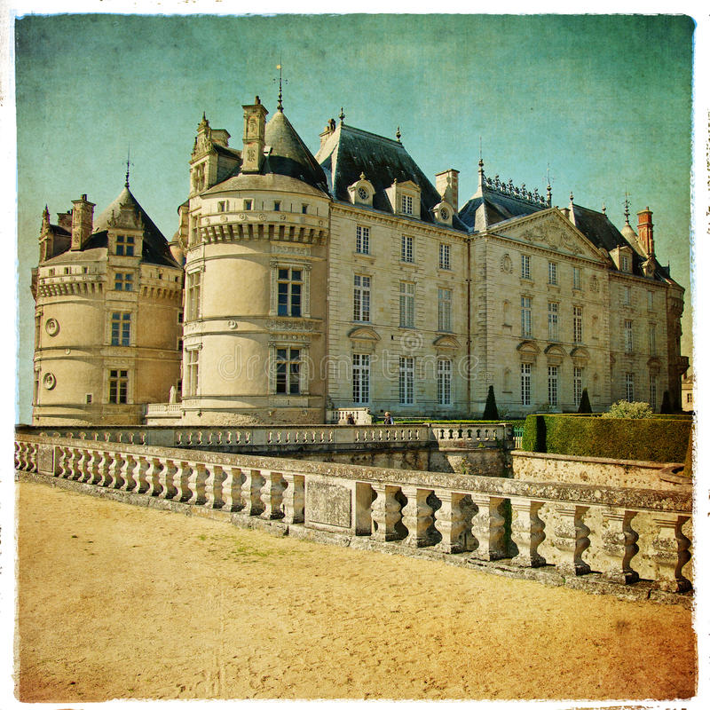 Het kasteel van le lude stock foto