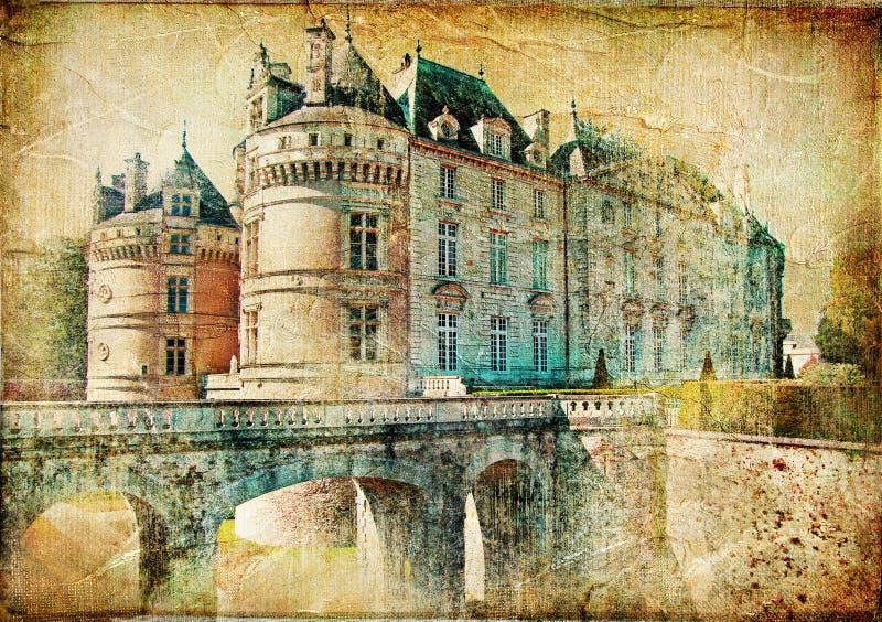 Het kasteel van le lude stock afbeelding