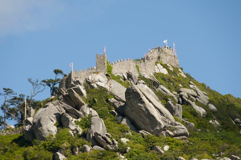Het kasteel van legt - Sintra - Portugal vast royalty-vrije stock afbeelding