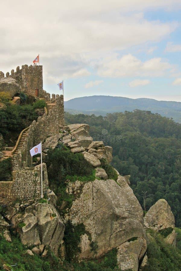 Het kasteel van legt vast stock foto