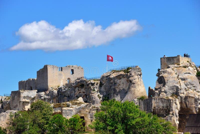 Het kasteel van Lesbaux royalty-vrije stock afbeeldingen