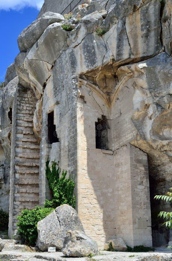 Het kasteel van Lesbaux, Frankrijk stock afbeelding