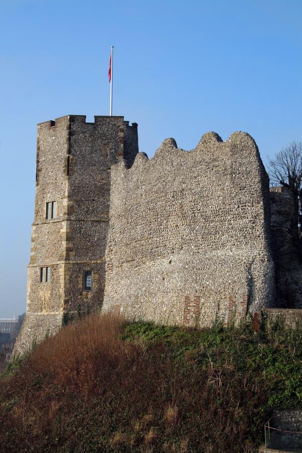 Het kasteel van Lewes stock afbeelding