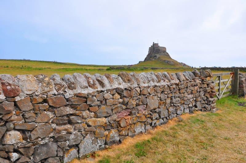 Het Kasteel van Lindisfarne stock afbeelding