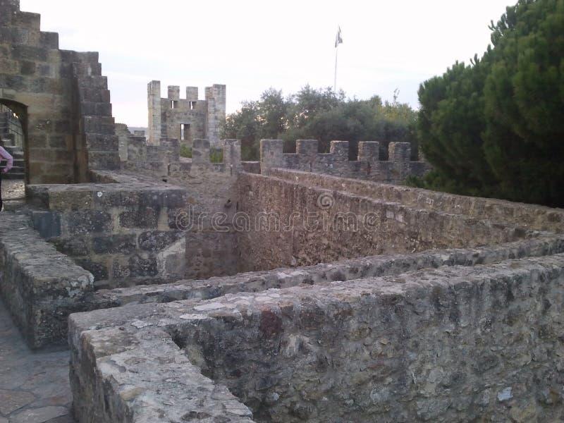 Het kasteel van Lissabon royalty-vrije stock afbeeldingen