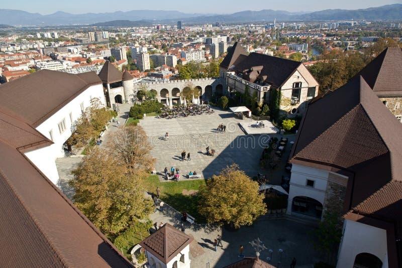 Het Kasteel van Ljubljana stock foto
