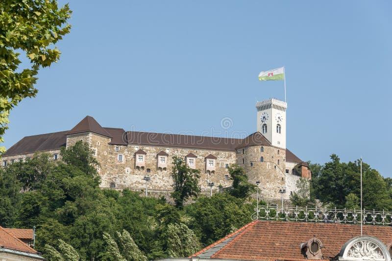 Het kasteel van Ljubljana, Slovenië, Europa royalty-vrije stock afbeeldingen