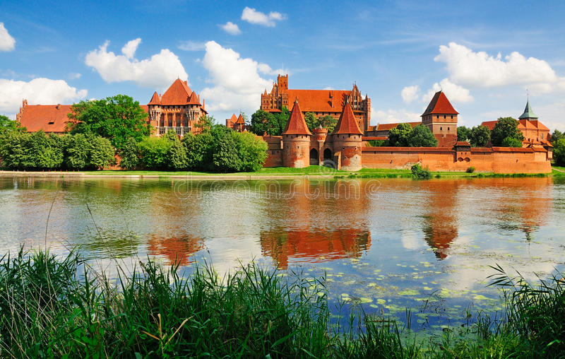 Het Kasteel van Malbork, Polen stock afbeeldingen