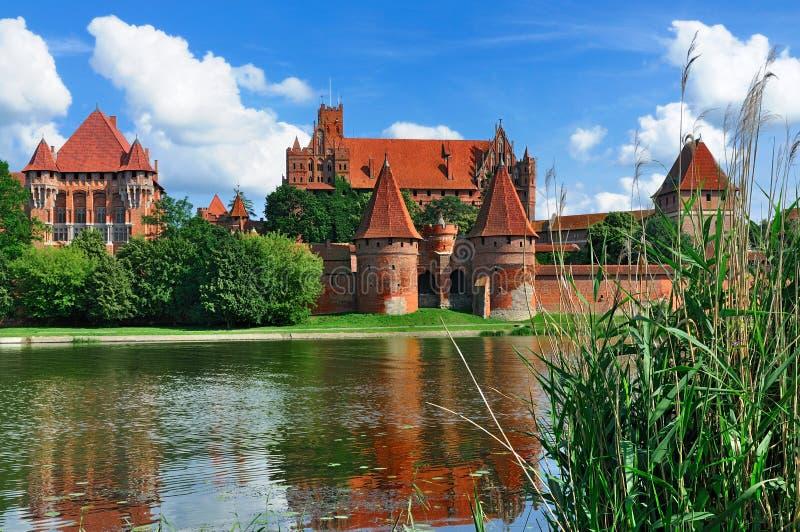 Het Kasteel van Malbork, Polen stock foto