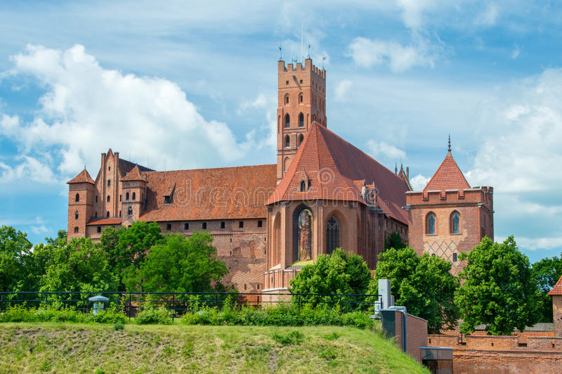 Het kasteel van Malbork in Polen royalty-vrije stock fotografie