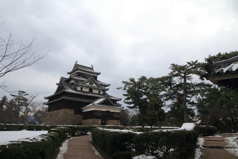 Het kasteel van Matsue stock foto's