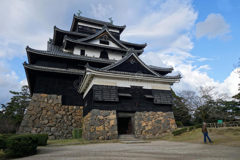Het kasteel van Matsue in Matsue in Shimane-prefectuur, Japan royalty-vrije stock fotografie