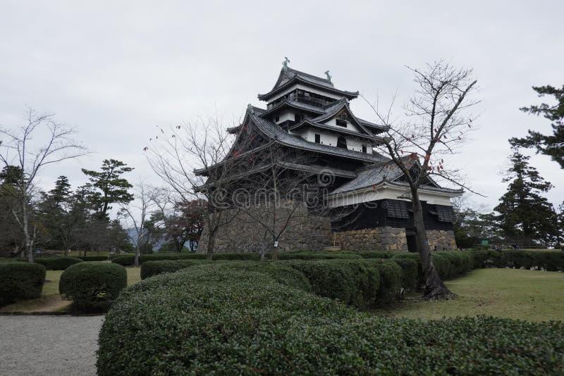 Het kasteel van Matsue van nationale schat in Shimane-prefectuur stock fotografie