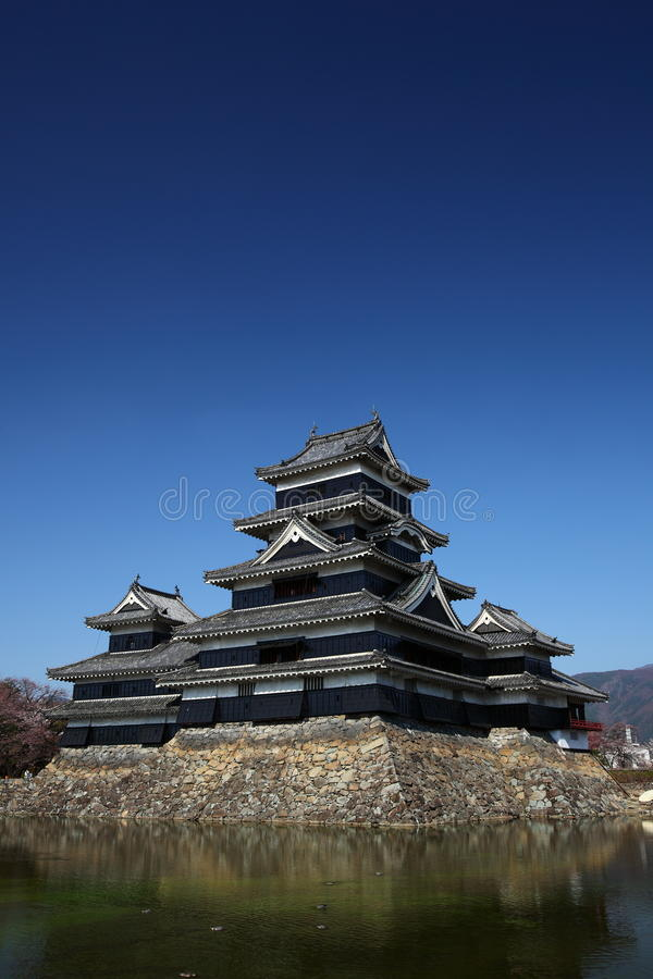 Het kasteel van Matsumoto stock afbeeldingen