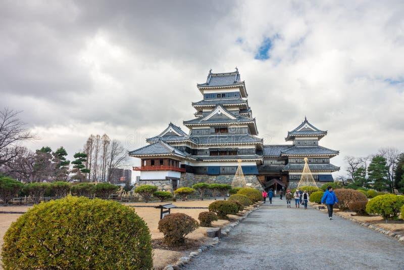 Het Kasteel van Matsumoto is de eerste historische kastelen van Japan royalty-vrije stock afbeelding