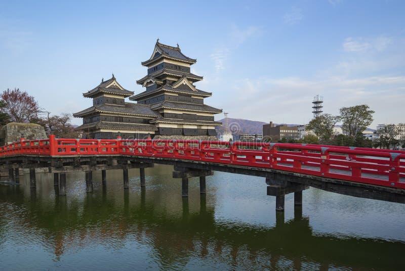 Het Kasteel van Matsumoto in de stad van Matsumoto, perfecture van Nagano, Japan stock foto's