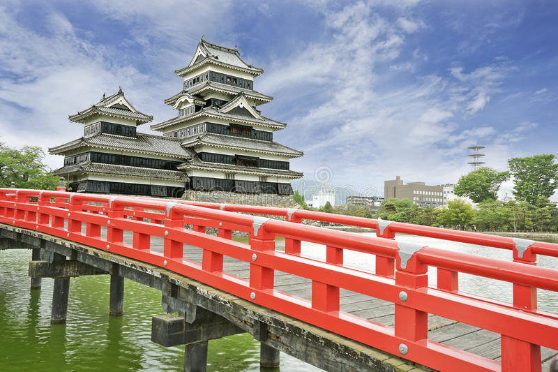 Het Kasteel van Matsumoto in de Stad van Matsumoto, Japan stock foto's