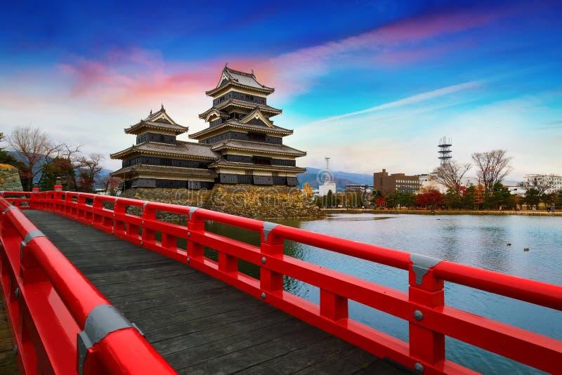 Het Kasteel van Matsumoto in de Stad van Matsumoto, Nagano stock afbeelding