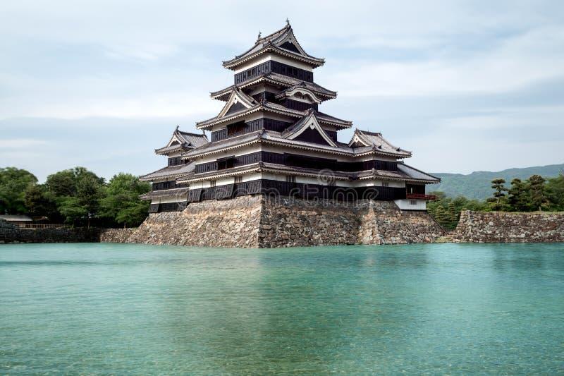 Het Kasteel van Matsumoto in de Stad van Matsumoto, Nagano, Japan royalty-vrije stock afbeelding