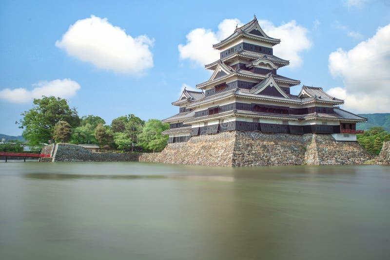 Het kasteel van Matsumoto in de stad van Matsumoto, Nagono, Japan stock afbeelding