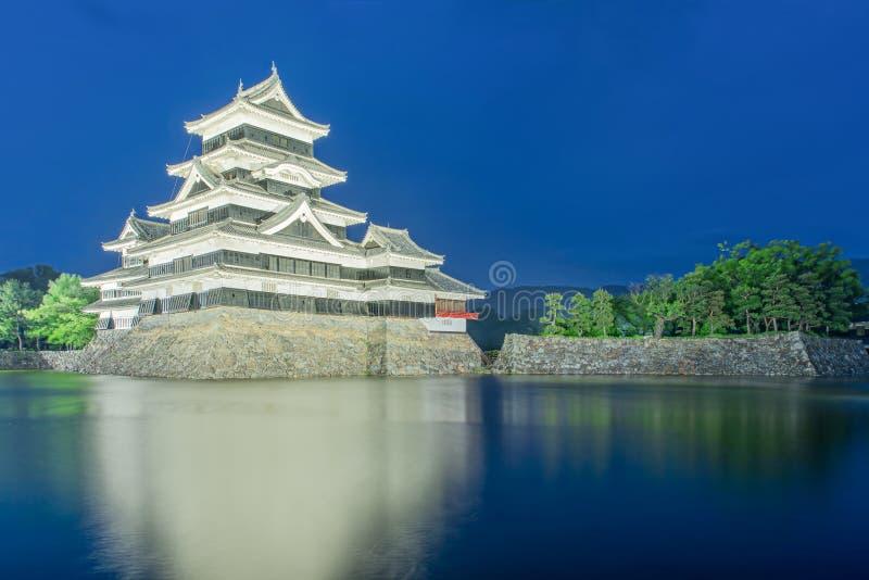 Het kasteel van Matsumoto in de stad van Matsumoto, Nagono, Japan stock foto's