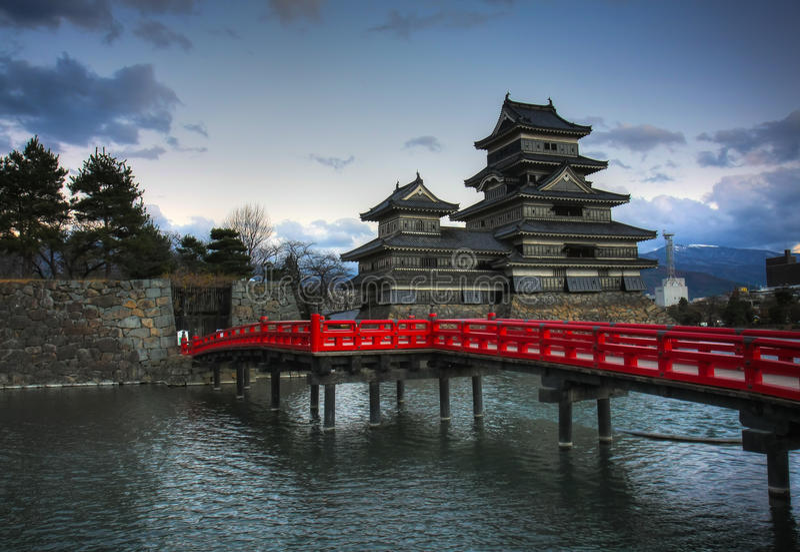 Het Kasteel van Matsumoto, Japan royalty-vrije stock afbeeldingen