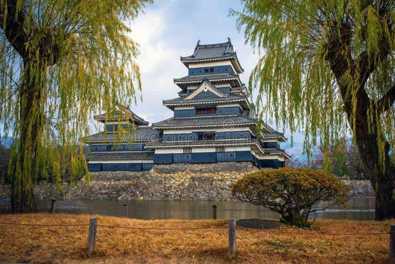 Het Kasteel van Matsumoto, Japan stock afbeelding