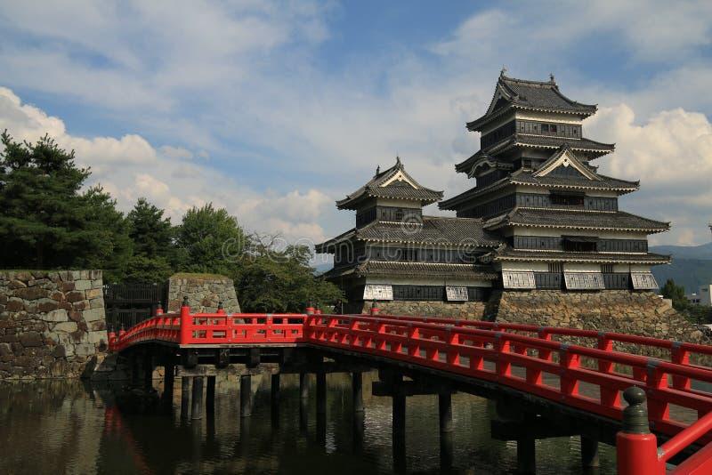 Het Kasteel van Matsumoto, Japan stock foto