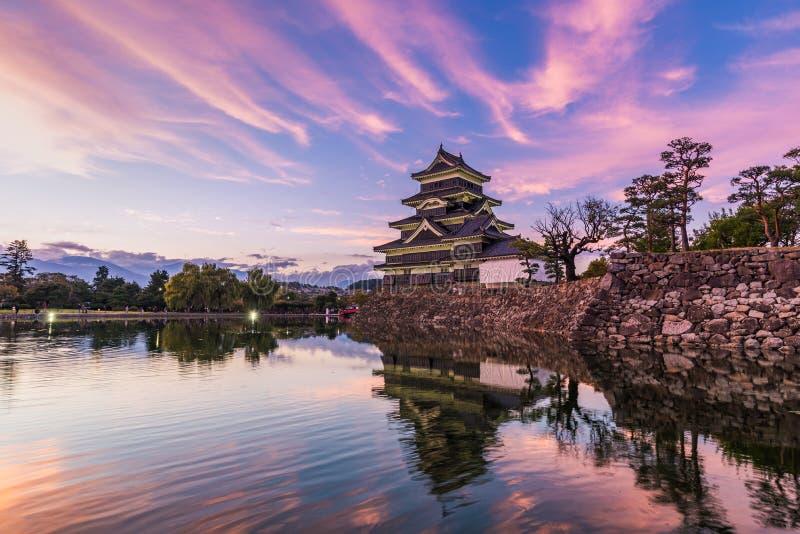 Het Kasteel van Matsumoto of Kraaikasteel in Nagano, Japan royalty-vrije stock afbeelding