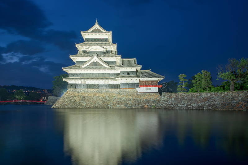 Het kasteel van Matsumoto in Matsumoto Nagano, Japan stock fotografie