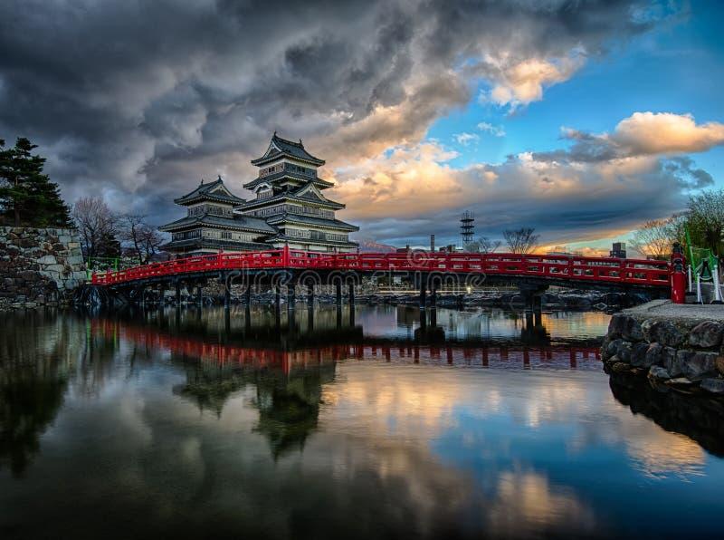 Het Kasteel van Matsumoto, Nagano, Japan royalty-vrije stock fotografie