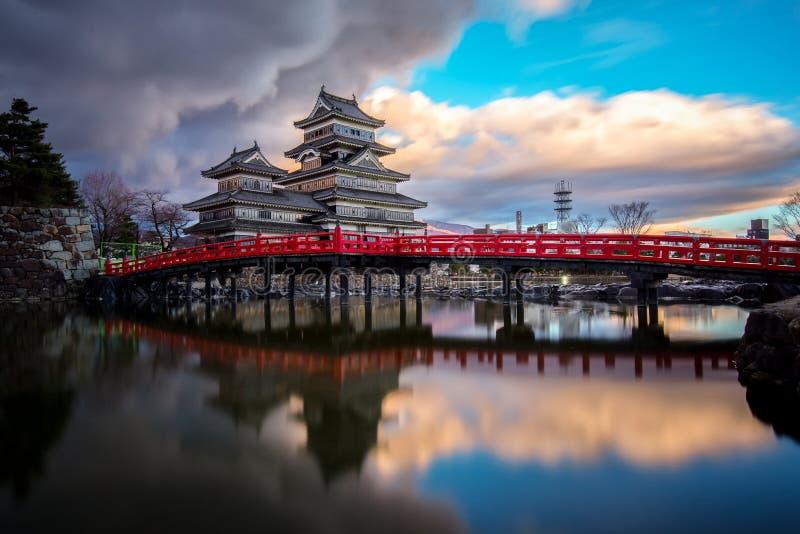 Het Kasteel van Matsumoto, Nagano, Japan royalty-vrije stock afbeelding