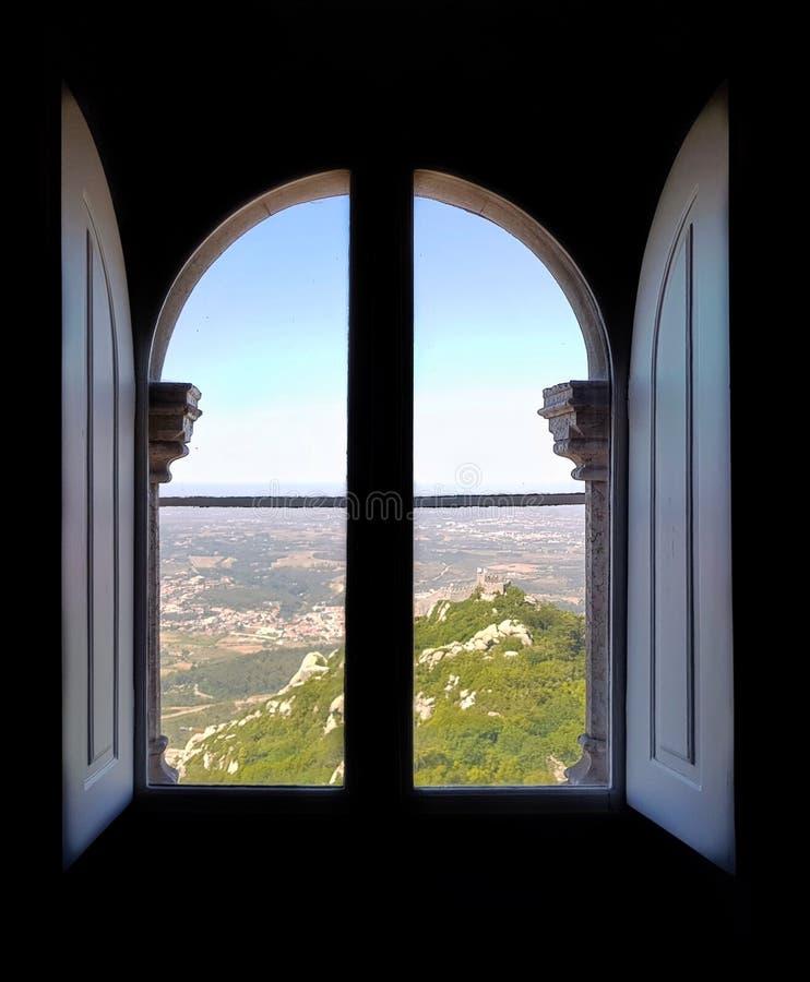 Het kasteel van menings fom Pena royalty-vrije stock foto
